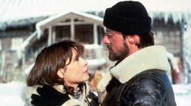 Rocky IV: Talia Shire e Sylvester Stallone in una scena