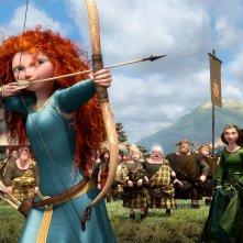Ecco Merida l'eroina di Brave, nuovo atteso lungometraggio Pixar, in azione col suo arco