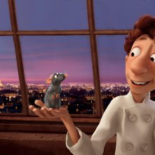 Una scena del film Ratatouille, ambientato a Parigi