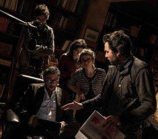 In Treatment: Saverio Costanzo dà delle indicazioni a Sergio Castellito durante le riprese