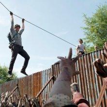 The Walking Dead: Austin Nichols e Andrew Lincoln in un'immagine di Heads Up
