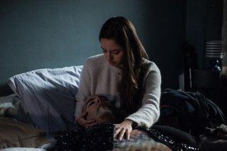 Un posto sicuro: Matilde Gioli e Marco D'Amore in una scena del film