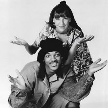 Mayim Bialik e Will Smith in una foto del crossover tra Blossom e Willy, il principe di Bel Air
