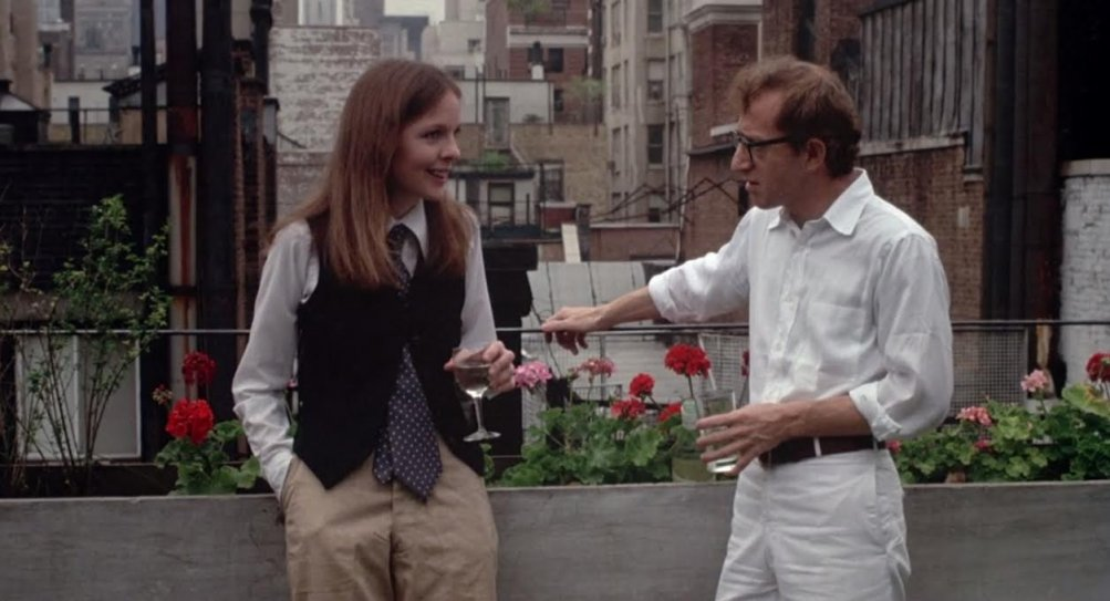 Io e Annie: Woody Allen e Diane Keaton in una scena