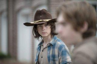 The Walking Dead: Carl (Chandler Riggs) in una foto della puntata L'inizio e la fine