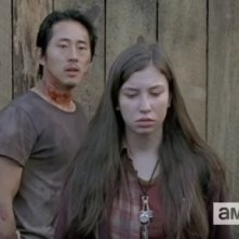The Walking Dead: Steven Yeun e Katelyn Nacon in L'inizio e la fine