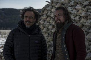 Revenant - Redivivo: Alejandro Gonzalez Iñárritu sul set insieme all'attore Leonardo DiCaprio