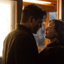 The Finest Hours: Chris Pine e Holly Grainger in una scena del film