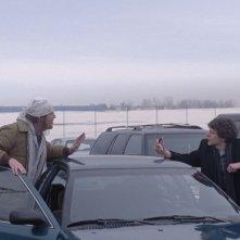 The End of the Tour: Jesse Eisenberg e Jason Segel insieme in una scena del film