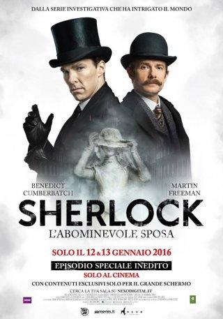 Sherlock: il poster italiano per l'episodio speciale di Natale, L'abominevole sposa.