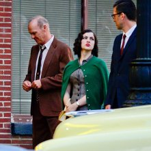 Michael Keaton sul set di The Founder