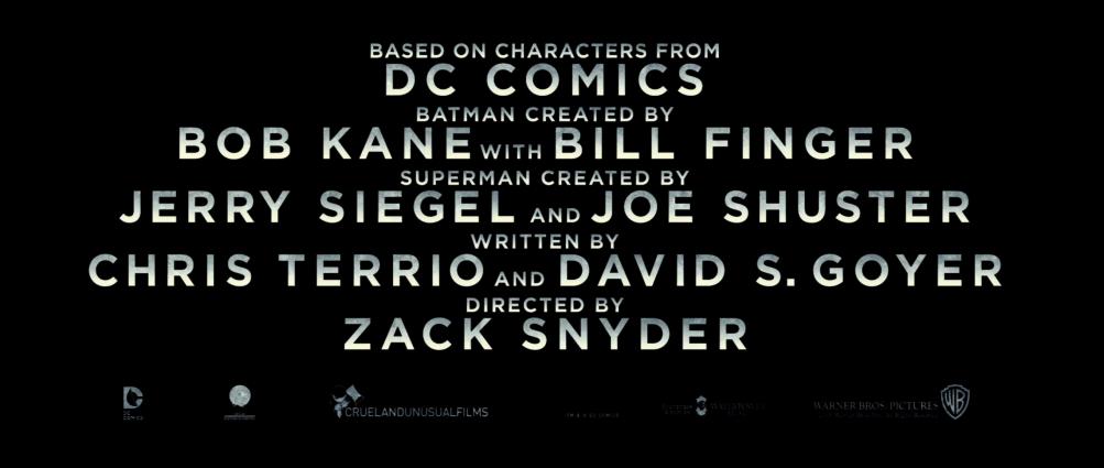 Batman v Superman: i credits del nuovo trailer