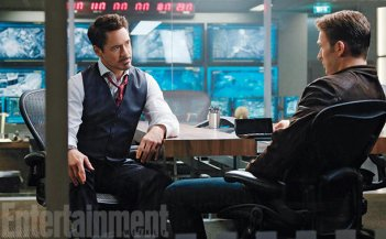 Captain America Civil War - Una foto di Stark e Captain America