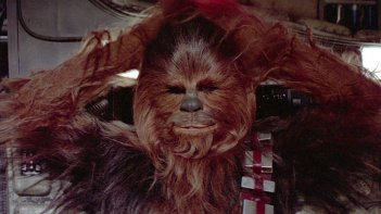 Guerre stellari: Chewbecca in una scena del film