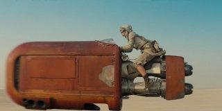 Star Wars: Il risveglio della forza, Daisy Ridley in un momento del film
