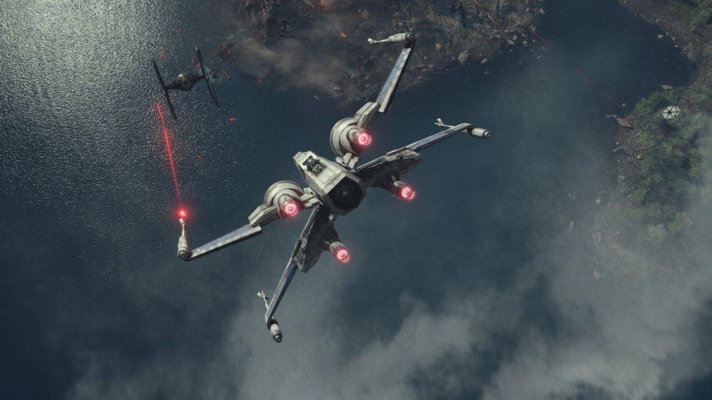 Star Wars: Il risveglio della forza, un'immagine di combattimento aereo