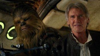 Star Wars: Il risveglio della forza, Harrison Ford e Chewbecca in un'immagine del film