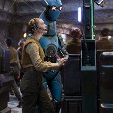 Star Wars: Il Risveglio della Forza - L'attrice Billie Lourd in una scena del film
