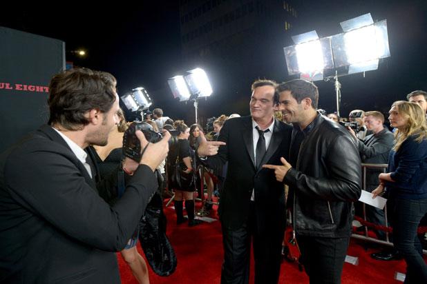 The Hateful Eight: Quentin Tarantino alla premiere insieme all'amico Eli Roth