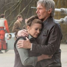 Star Wars: Il Risveglio della Forza - Carrie Fisher e Harrison Ford interpretano Leia e Han