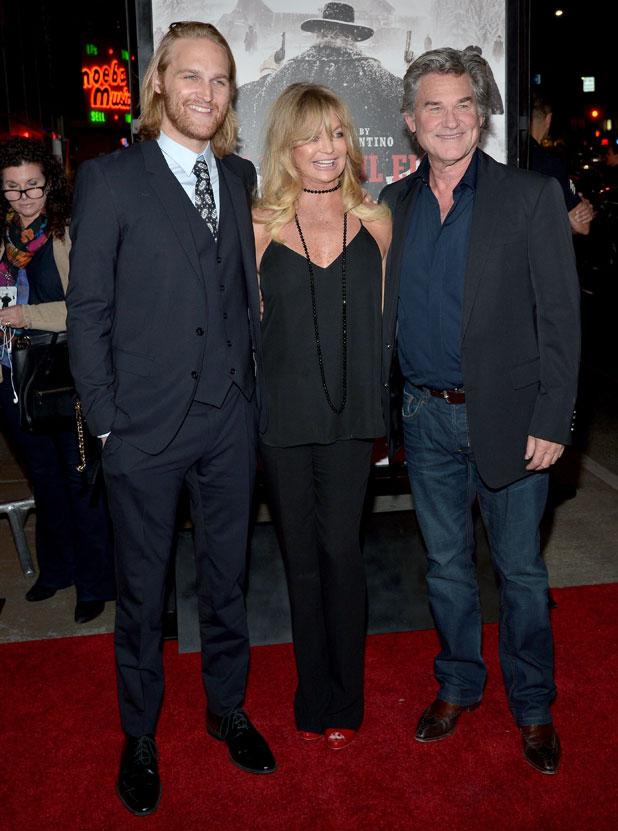 The Hateful Eight: Kurt Russell alla premiere col figlio Wyatt Russell e Goldie Hawn