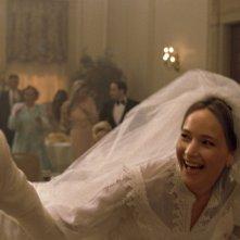 Joy: Edgar Ramirez, Jennifer Lawrence e Robert De Niro in una scena del film