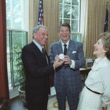Frank Sinatra con Reagan