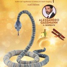 Il Piccolo Principe - Il character poster del Serpente, doppiato da Alessandro Gassman