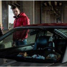 D'Ardennen: Kevin Janssens, Veerle Baetens e Jeroen Perceval in una scena