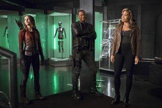 The Flash: Willa Holland, David Ramsey e Ciara Renée in una foto di Legends of Today