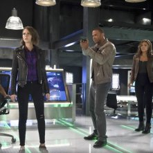 The Flash: Emily Bett Rickards, Willa Holland, David Ramsey, Ciara Renée e Carlos Valdes in Legends of Today