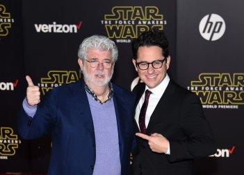 Star Wars: il risveglio della Forza J.J Abrams e George Lucas alla premiere