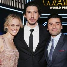 Star Wars: il risveglio della forza - Adam Driver, Oscar Isaac e Joeanne Tucker alla premiere