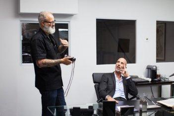 Boris Sans Béatrice - Il regista Denis Cote discute una scan con James Hyndman