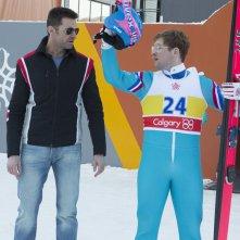Eddie the Eagle: Hugh Jackman e Taron Egerton insieme sulla neve