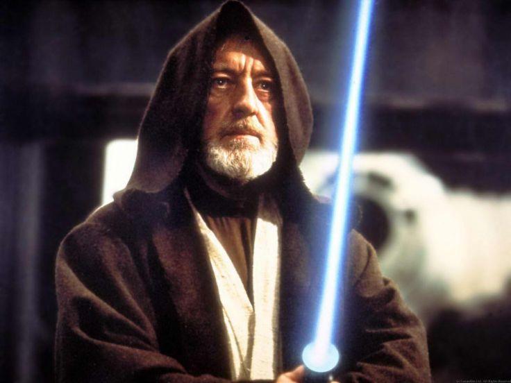 Alec Guinness è Obi-Wan Kenobi in Guerre Stellari