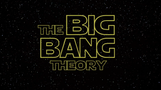 Il logo The Big Bang Theory in versione Star Wars