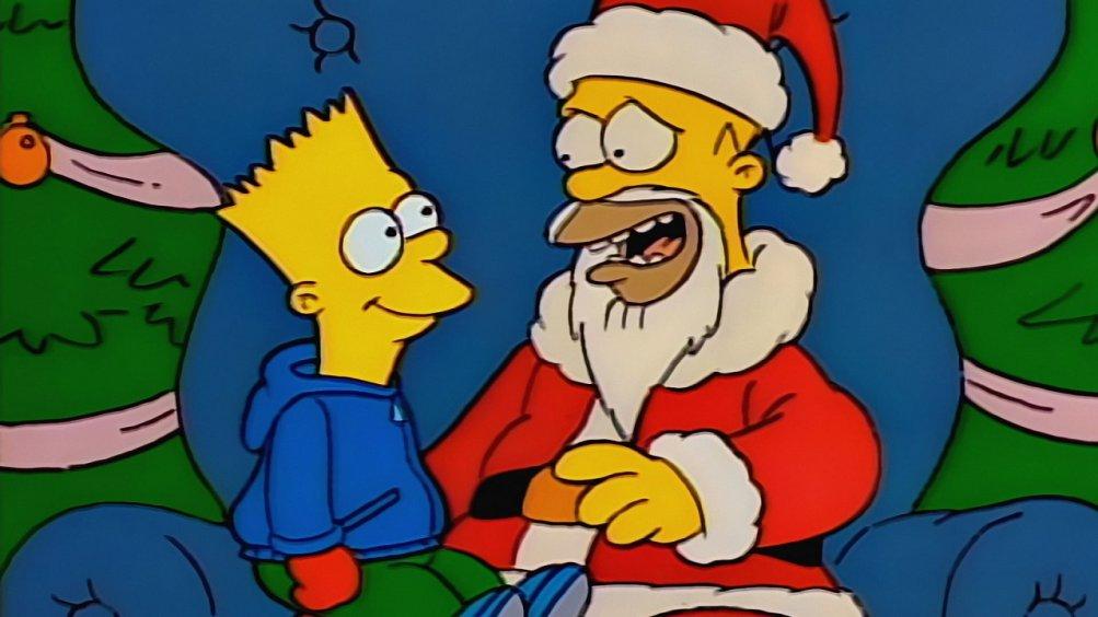 Simpson, una immagine dell'ep. Un natale da cani