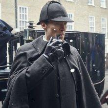Sherlock - L'abominevole sposa: Benedict Cumberbatch in una scena dell'episodio tv speciale