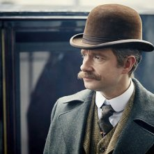 Sherlock - L'abominevole sposa: Martin Freeman in una scena dell'episodio tv speciale