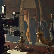 Sherlock - L'abominevole sposa: Martin Freeman in un'immagine dal set