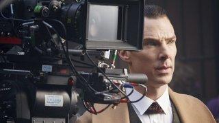 Sherlock - L'abominevole sposa: Benedit Cumberbatch in un'immagine dal set