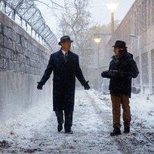 Steven SPielberg e Tom Hanks sul set de Il ponte delle spie