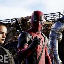 Deadpool: Negasonic Teenage Warhead, Deadpool e Colossus in una foto del film