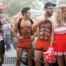 Cattivi vicini 2: Zac Efron e Seth Rogen in shorts