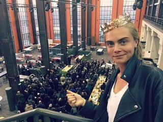 Valerian and the City of a Thousand Planets: l'attrice Cara Delevingne sul set