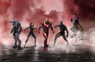 Captain America: Civil War - Una promo art del team di Iron Man