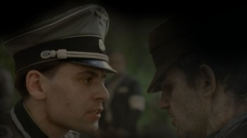 Il figlio di Saul: il protagonista Géza Röhrig a confronto con un nazista