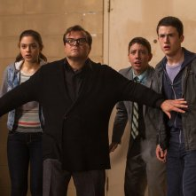 Piccoli brividi: Jack Black, Dylan Minnette, Odeya Rush e Ryan Lee in un momento del film