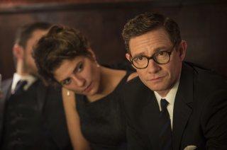 The Eichmann Show: Martin Freeman e Zora Bishop in una scena del film